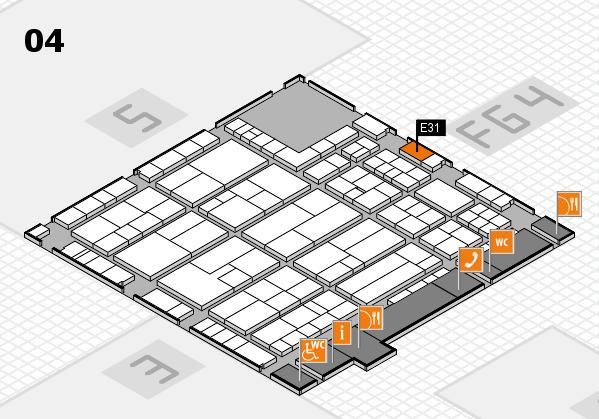 K 2016 hall map (Hall 4): stand E31