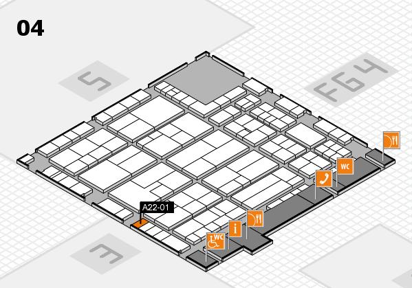 K 2016 hall map (Hall 4): stand A22-01