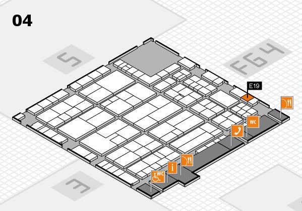 K 2016 hall map (Hall 4): stand E19