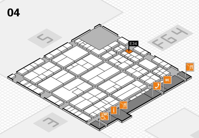 K 2016 hall map (Hall 4): stand E34