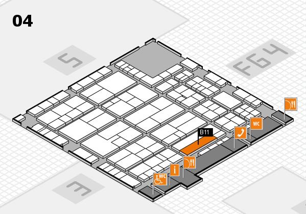 K 2016 Hallenplan (Halle 4): Stand B11
