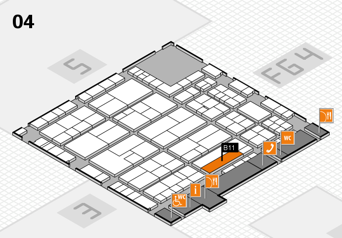 K 2016 hall map (Hall 4): stand B11