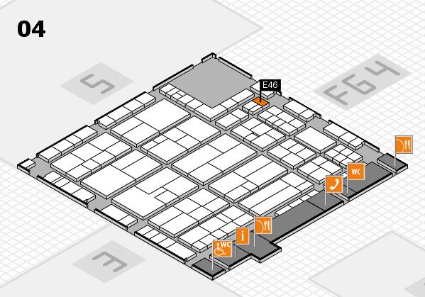 K 2016 hall map (Hall 4): stand E46