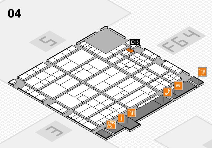 K 2016 Hallenplan (Halle 4): Stand E46