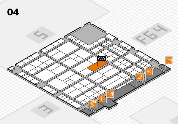 K 2016 hall map (Hall 4): stand C30