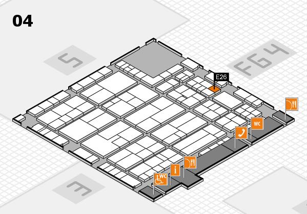 K 2016 hall map (Hall 4): stand E26