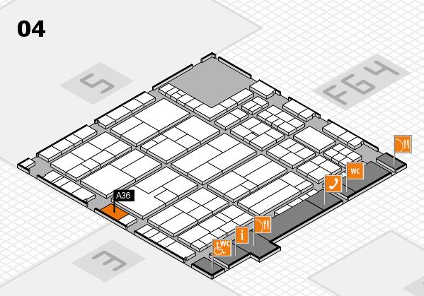 K 2016 Hallenplan (Halle 4): Stand A36