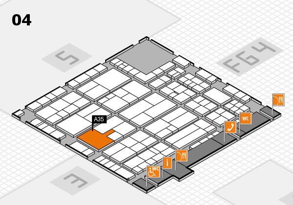 K 2016 hall map (Hall 4): stand A35
