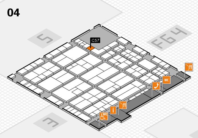 K 2016 hall map (Hall 4): stand C57