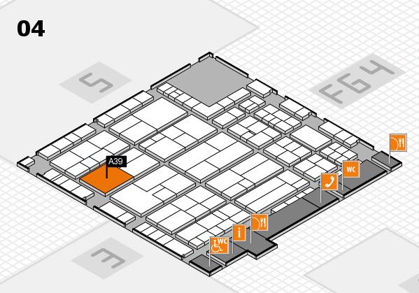 K 2016 hall map (Hall 4): stand A39