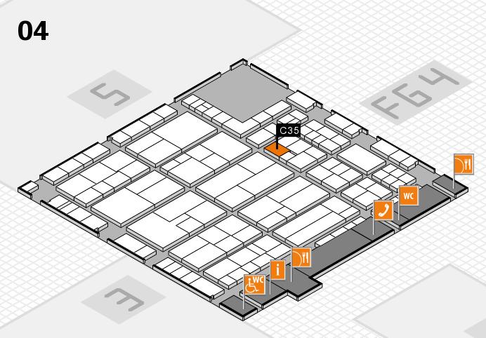 K 2016 hall map (Hall 4): stand C35