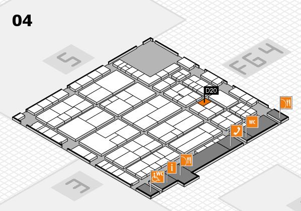 K 2016 hall map (Hall 4): stand D20