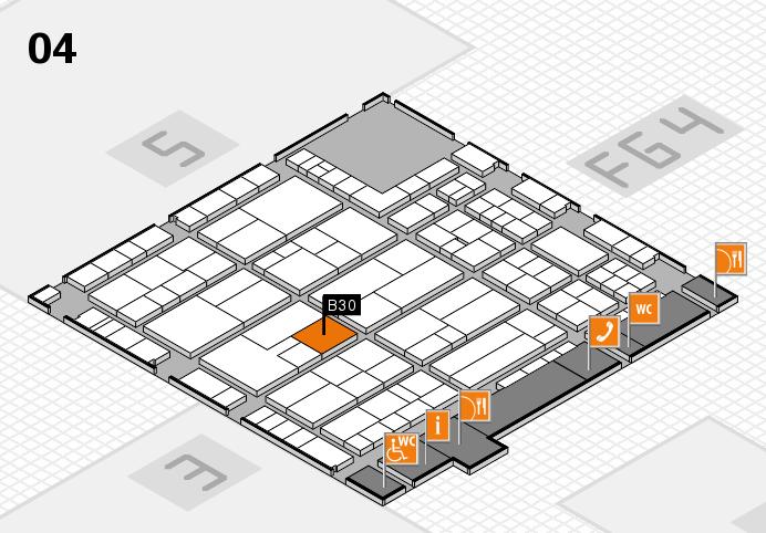 K 2016 hall map (Hall 4): stand B30