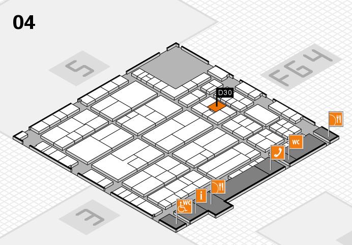 K 2016 hall map (Hall 4): stand D30