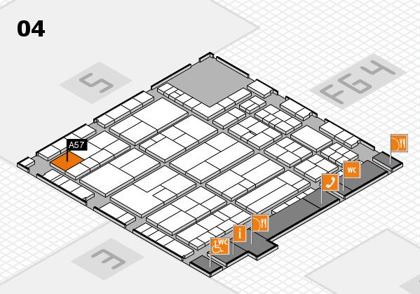 K 2016 hall map (Hall 4): stand A57