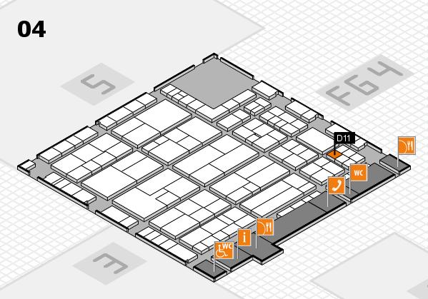 K 2016 hall map (Hall 4): stand D11