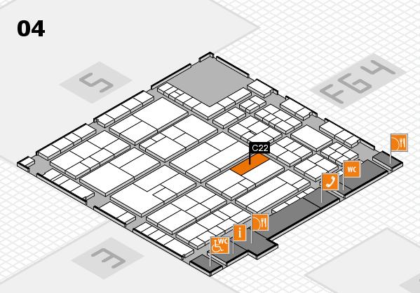 K 2016 hall map (Hall 4): stand C22