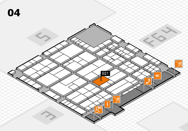 K 2016 hall map (Hall 4): stand B21