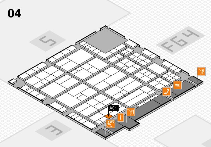K 2016 hall map (Hall 4): stand A01