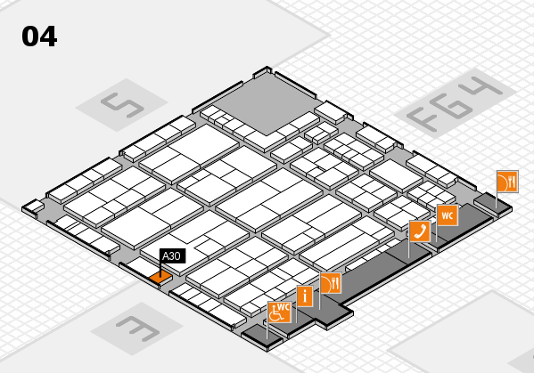 K 2016 Hallenplan (Halle 4): Stand A30