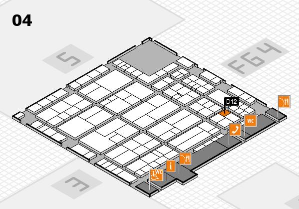 K 2016 hall map (Hall 4): stand D12