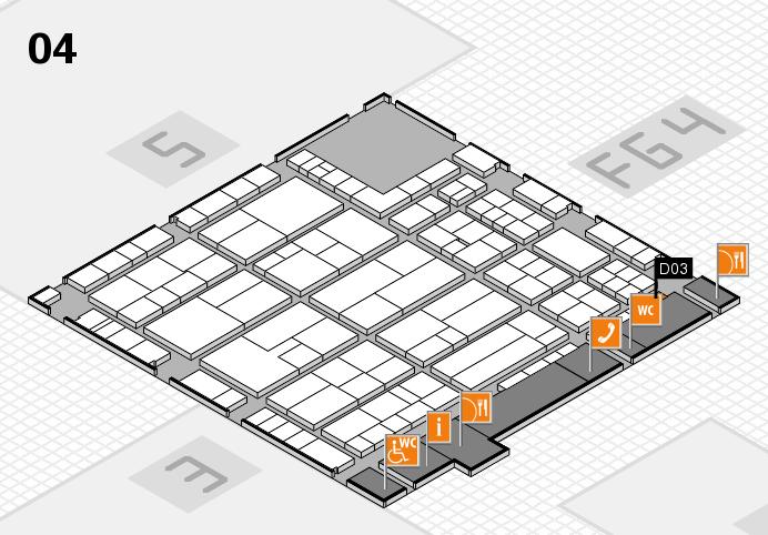 K 2016 hall map (Hall 4): stand D03