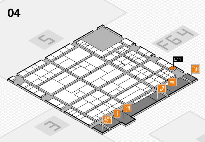 K 2016 hall map (Hall 4): stand E11