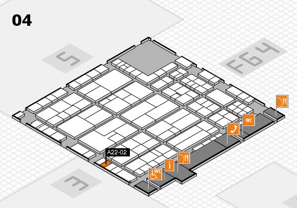 K 2016 hall map (Hall 4): stand A22-02