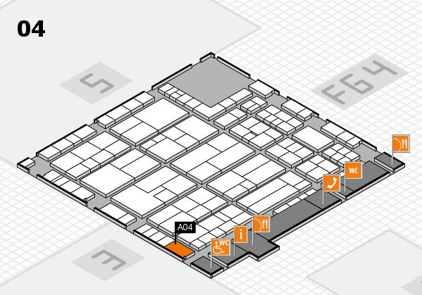 K 2016 hall map (Hall 4): stand A04