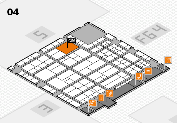 K 2016 hall map (Hall 4): stand C56