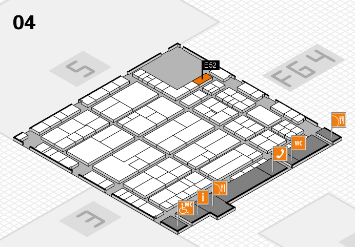 K 2016 hall map (Hall 4): stand E52