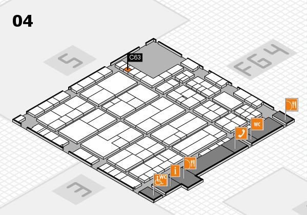 K 2016 hall map (Hall 4): stand C63-01