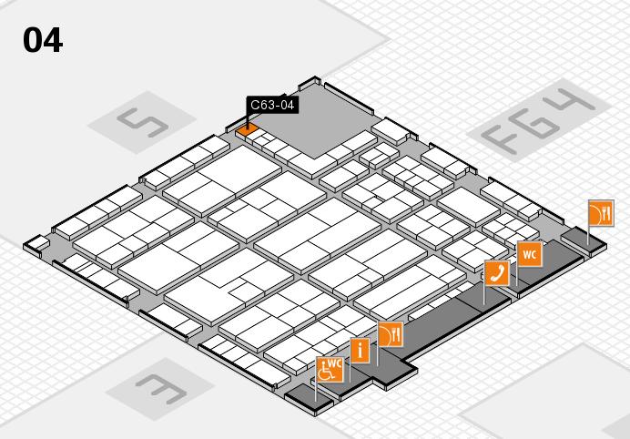 K 2016 hall map (Hall 4): stand C63-04