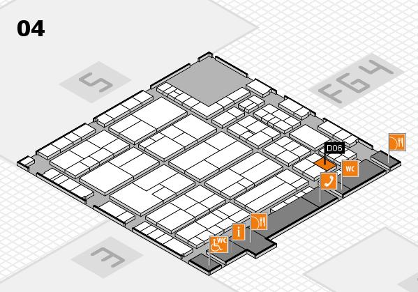 K 2016 hall map (Hall 4): stand D06
