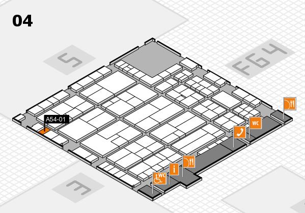K 2016 hall map (Hall 4): stand A54-01
