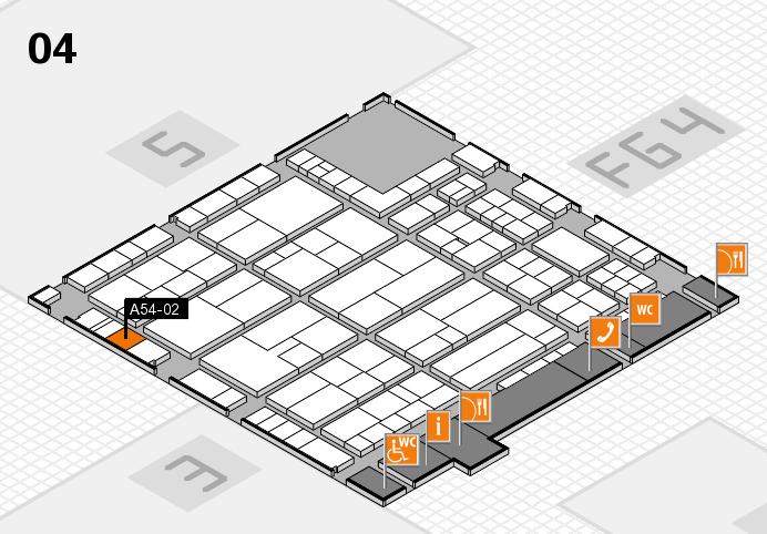 K 2016 hall map (Hall 4): stand A54-02