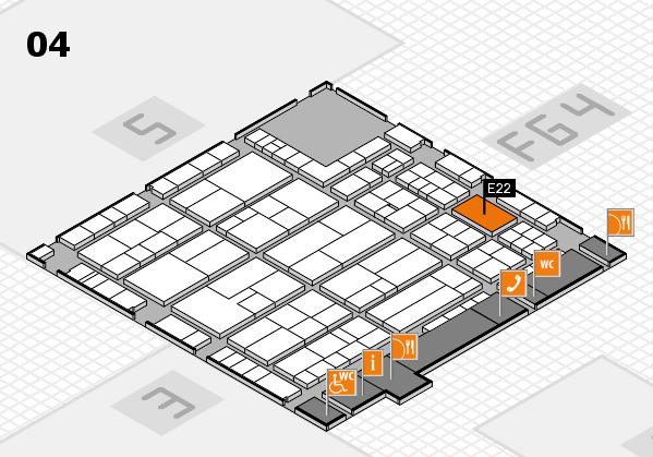 K 2016 hall map (Hall 4): stand E22