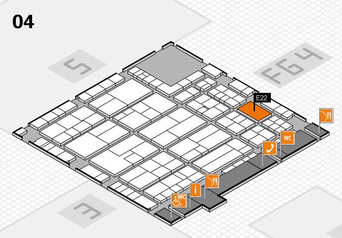 K 2016 Hallenplan (Halle 4): Stand E22