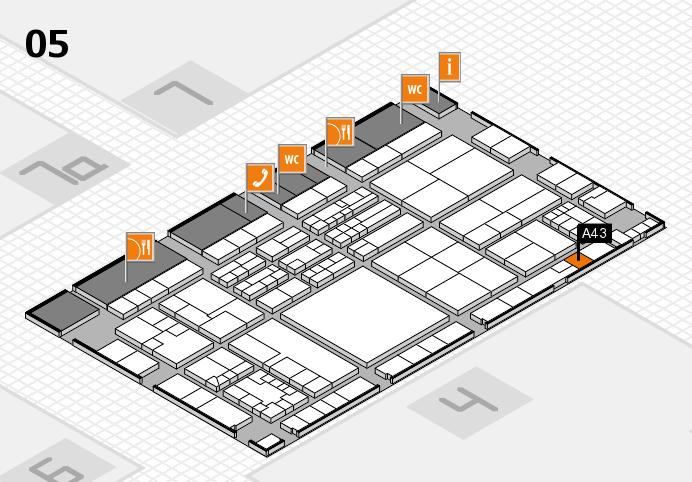K 2016 hall map (Hall 5): stand A43