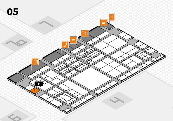 K 2016 hall map (Hall 5): stand F11
