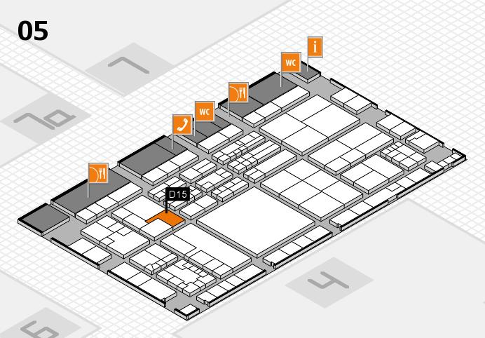 K 2016 hall map (Hall 5): stand D15