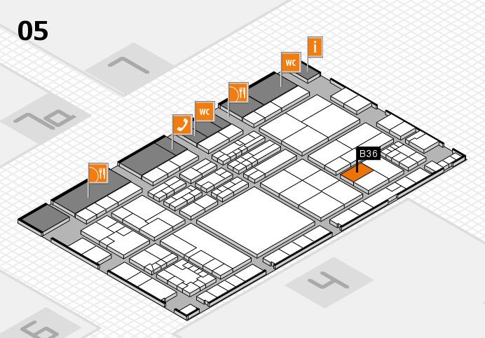 K 2016 hall map (Hall 5): stand B36