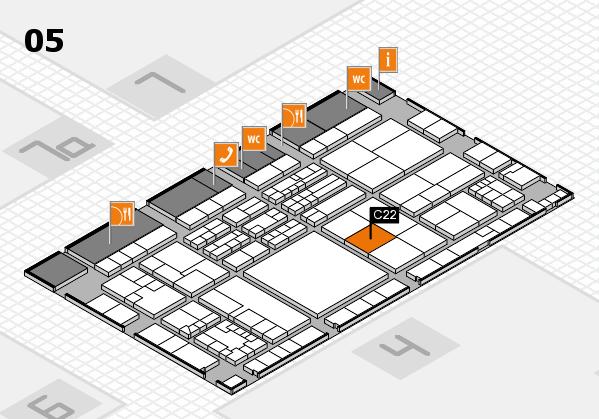 K 2016 hall map (Hall 5): stand C22