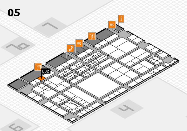 K 2016 hall map (Hall 5): stand E02