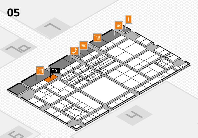 K 2016 hall map (Hall 5): stand D01