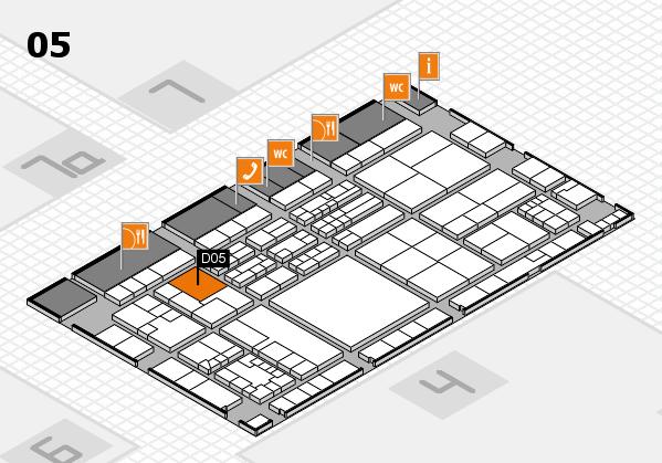 K 2016 hall map (Hall 5): stand D05