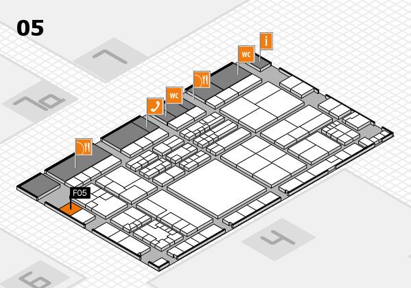 K 2016 hall map (Hall 5): stand F05