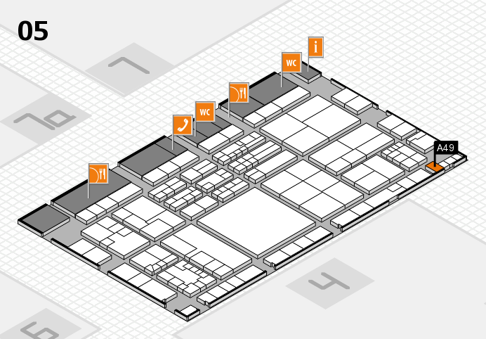 K 2016 hall map (Hall 5): stand A49