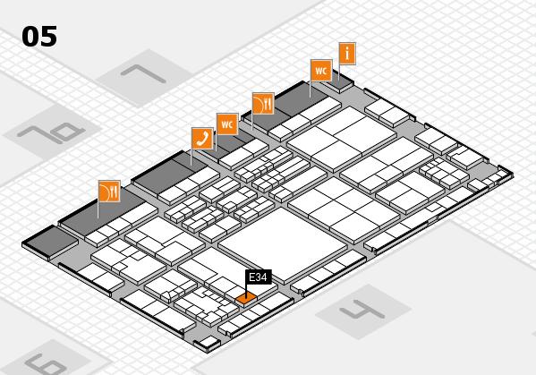 K 2016 hall map (Hall 5): stand E34