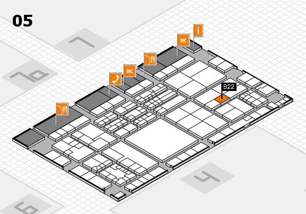 K 2016 hall map (Hall 5): stand B22
